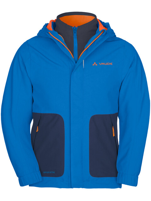 VAUDE Campfire IV 3in1 Jacket Kids radiate blue